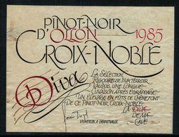 Etiquette De Vin // Pinot Noir D'Ollon, Vaud, Suisse - Etiquettes