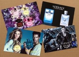 CC Carte Parfumée 'VERSACE SET' Perfume Card PATCH POSTCARD X 4 - Modern (from 1961)