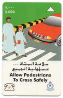 PHONE CARD-OMAN-ALLOW PEDESTRIANS TO CROSS SAFELY - Oman