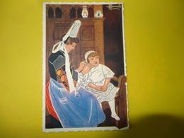St Guenole Avant Le Pardon Reproduction De Charles Homualk - Bretagne