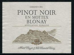 Etiquette De Vin // Pinot Noir De Blonay, Vaud, Suisse - Labels