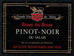 Etiquette De Vin // Pinot Noir Du Valais, Suisse - Labels