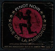 Etiquette De Vin // Pinot Noir De Chamoson, Valais, Suisse - Etiquettes