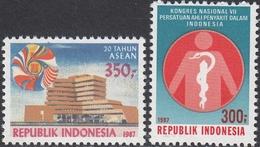 Indonesia 1987 - 20th Anniversary Of ASEAN; Internal Diseases - Mi 1235, 1236 ** MNH - Indonesia