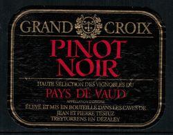 Etiquette De Vin // Pinot Noir Du Pays De Vaud, Suisse - Etiquettes