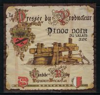 Etiquette De Vin // Pinot Noir Du Pays Du Valais, Suisse - Labels