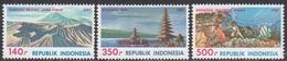 Indonesia 1987 - Tourism: Volcanoes, Bali, Diving - Mi 1237-1239 ** MNH - Indonesia