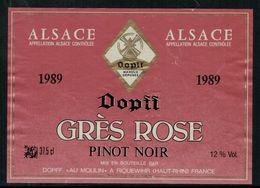 Etiquette De Vin // Pinot Noir D'Alsace, France - Labels