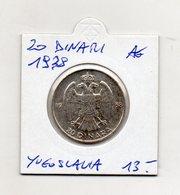 Jugoslavia - 1938 - 20 Dinara - Argento - Vedi Foto - (MW1403) - Jugoslavia