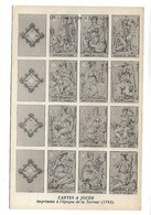 Carte Représentant Les CARTES A JOUER Imprimées à L'époque De La Terreur (1793) - Cartes à Jouer