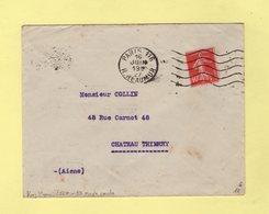 Krag 3e Generation - Paris 116 - R Reauur - 5 Lignes Ondulees Et Bloc Dateur Simple Cercle - 1927 - Marcophilie (Lettres)