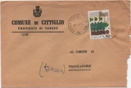 Buste Comuni D'Italia: Flera Verona £. 50 Su Busta Comune Di Cittiglio (Varese) Datata 27.03.1974 - 6. 1946-.. Republic