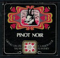 Etiquette De Vin // Pinot Noir Du Valais, Suisse (chamois) - Etiquettes