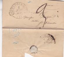 PRECURSOR NOGENT SUR SEINE A SAINT FLOENTIN AN 1839 FULL CONTENT INSIDE- BLEUP - Postmark Collection (Covers)