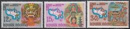 Indonesia 1969 - Tourism In Bali - Mi 641-643 ** MNH - Indonesia
