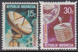 Indonesia 1969 - Satellite Communications And Inauguration Of Djatiluhur Earth Station - Mi 654-655 ** MNH - Indonesia
