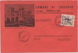 Buste Comuni D'Italia: Salvemini £. 50 Su Busta Comune Di Crecchio (Chieti) Datata 03.11.1973 - 6. 1946-.. Republic