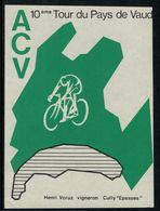 Etiquette De Vin // Epesses, Tour Du Pays De Vaud à Vélo, Vaud, Suisse - Cycling