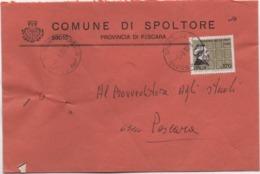 Buste Comuni D'Italia: Quintino Sella £. 170 Su Busta Comune Di Spoltore (Pescara) Del 01.03.1978 - 6. 1946-.. Republic