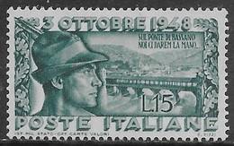 Italia Italy 1948 Bassano Sa N.592 Nuovo MH * - 1946-60: Nieuw/plakker