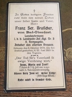 Sterbebild Wk1 Bidprentje Avis Décès Deathcard LIR3 Landwehr IR3 Vogesen BREITENBACH Aus Bad-Oberdorf - 1914-18