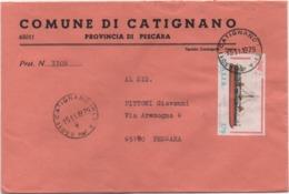 Buste Comuni D'Italia: Corazzata Dandolo £. 170 Su Busta Comune Di Catignano (Pescara) Del 15.11.1979 - 6. 1946-.. Republic