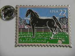 Pin's Timbre CHEVAL USA 22 Saddlebred - Animals