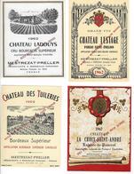 8 WIJNETIKETTEN, 8 ETIQUETTES DE VIN Des Années, Jaren1960-1965 (comme Nouveau) - Labels