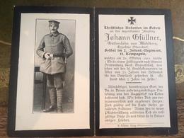 Sterbebild Wk1 Bidprentje Avis Décès Deathcard IR2 MAISSEMY Block 6 Grab 98 Aus Mühlberg - 1914-18