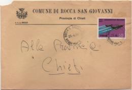 Buste Comuni D'Italia: Aeronautica Militare £. 50 Su Busta Comune Di Rocca San Giovanni (Chieti) Datata 23.04.1974 - 6. 1946-.. Republic