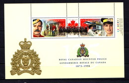 CANADA    1998    125th  Anniv  Of  Royal  Canadian  Mounted  Police    Sheetlet    MNH - 1952-.... Reign Of Elizabeth II