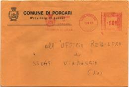 Buste Comuni D'Italia: Affrancatura Meccanica Rossa Comune Di Porcari (Lucca) Su Busta Del 03.06.1987 - Machine Stamps (ATM)