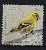 GREECE STAMPS 2014 SONGBIRDS OF GREECE(Carduelis Spinus)-20/3/14-USED - Songbirds & Tree Dwellers
