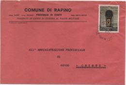 Buste Comuni D'Italia: Avvocatura Dello Stato £. 150 Su Busta Comune Di Rapino (Chieti) Del 20.04.1976 - 6. 1946-.. Republic