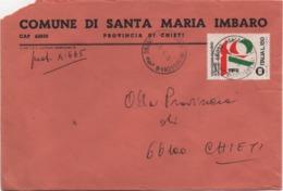 Buste Comuni D'Italia: Mondiale Filatelia £. 150 Su Busta Comune Di Santa Maria Imbaro (Chieti) Datata 26.04.1976 - 6. 1946-.. Republic