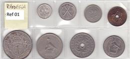 Rhodesia - Set Of 8 Coins - Ref 01 - Rhodésie