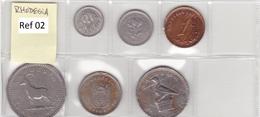 Rhodesia - Set Of 6 Coins - Ref 02 - Rhodésie