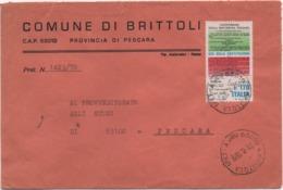 Buste Comuni D'Italia: Costituzione £. 170 Su Busta Comune Di Brittoli (Pescara) Del 31.08.1978 - 6. 1946-.. Republic