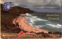 St. Kitts & Nevis - STK-3Ba, GPT, 3CSK, South East Peninsula (Error CSK), 10 EC$, %10.500ex, 1990, Mint - St. Kitts En Nevis