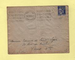 Krag - Paris 100 - Texte Limé - Mont Dore - 1938 - Marcophilie (Lettres)