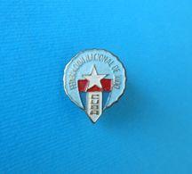 CUBA JUDO FEDERATION - Vintage Pin Badge * Judo Sport Association Union Abzeichen Spilla Anstecknadel Distintivo - Judo