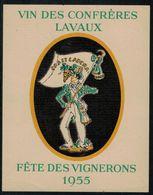 Etiquette De Vin // Vin Blanc De Lavaux, Fête Des Vignerons 1955 - Labels