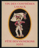 Etiquette De Vin // Vin Rouge De Lavaux, Fête Des Vignerons 1955 - Labels
