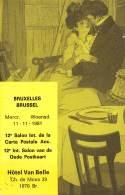 BRUXELLES - Chaussée De Mons 39 - Hôtel Van Belle - 12e Salon Int. De La Carte Postale Anc.  11 - 11 - 1981 - Fêtes, événements
