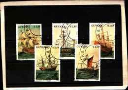 71793) GUYANA - NAVI- 4 V. 2359-63-  USATI - Guyana (1966-...)