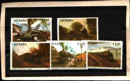 71794) GUYANA - LOCOMOTIVE- 5 V. 2345-49 -MNH** - Guyana (1966-...)