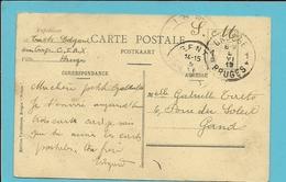 Kaart Met Stempel BRUGGE 1 Op 5/6/19, Verzonden Van Cop. C.I.A.X. - Correo Militar