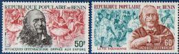"Benin 1980 Jacques Offenbach 2 Values MNH Scenes From ""Orphée Aux Enfers"" And  ""La Vie Parisienne"" - Musik"