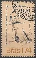LSJP BRAZIL 100 YEARS OF BIRTH RAUL PEDERNEIRA  1974 - Oblitérés