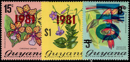 Guyana 1981 Overprint Set Unmounted Mint. - Guyana (1966-...)